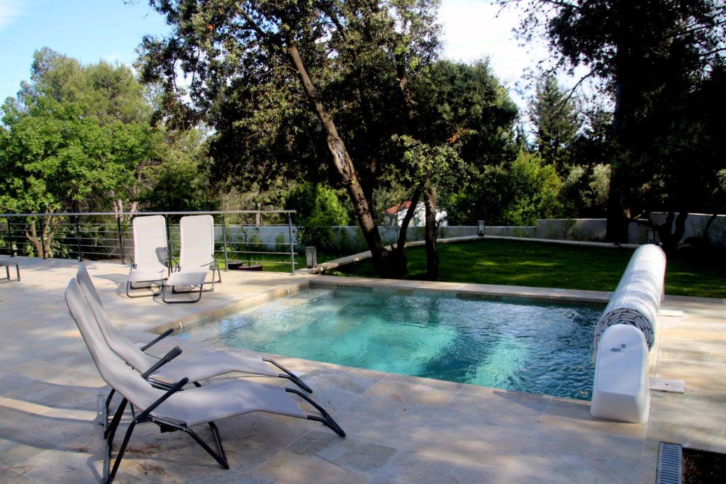 location villa détente vacances Montpellier séjour soleil avec piscine privée sécurisée enfants