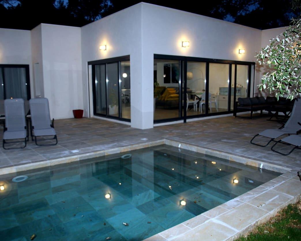 location villa montpellier piscine confort proche Pic St loup